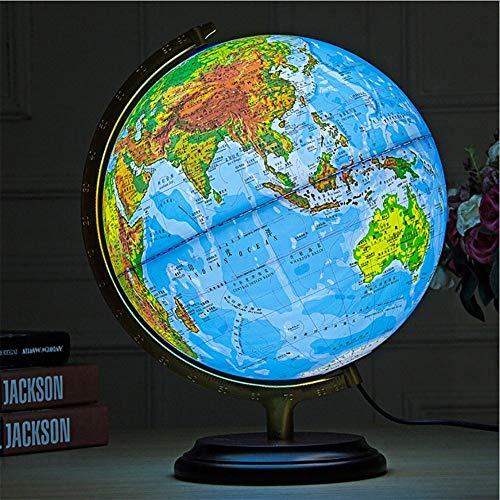 YUN Earth@ 32cm Inch Globus - 2 in 1 World Globe & beleuchtete Konstellation Karte pädagogisches geographisches Lernen Spielzeug