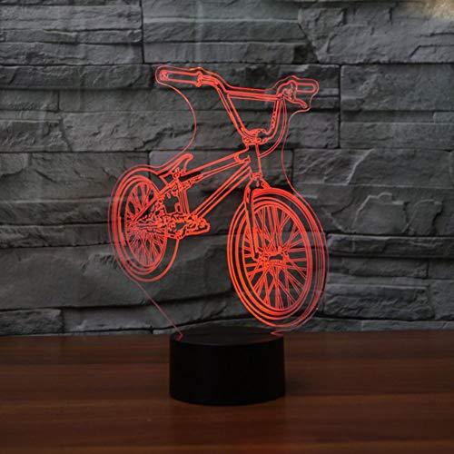 Langman Mountain Bike Led 3D Night Light Bunte Fernbedienung Stereo Lampe 3D Lampe,Remote und berühren