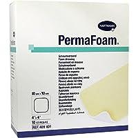 PERMAFOAM Schaumverband 10x10 cm 10 St Kompressen preisvergleich bei billige-tabletten.eu
