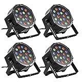 Eyourlife Lot de 4 Par LED DMX 512 Par LED ...