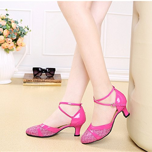 XPY&DGX Latino scarpe da ballo nel tacco alto adulto square dance scarpe rosa di grandi dimensioni, scarpe da ballo e danza moderna scarpe, 9 230MM