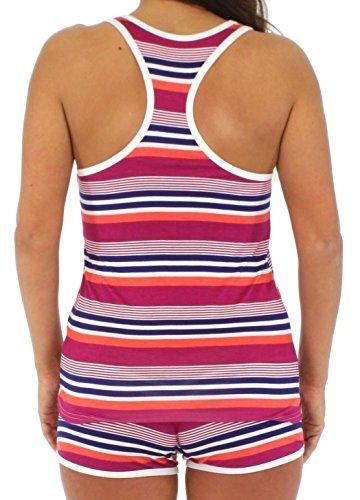 Pajama Heaven zweiteiliger schlafanzug für Damen aus Viskose mit ärmellosem Oberteil und kurzer hose Bunt gestreif