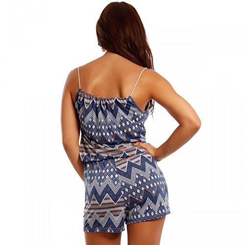 Damen Jumpsuit Shorts Strandoverall Mehrfarbig/Model5
