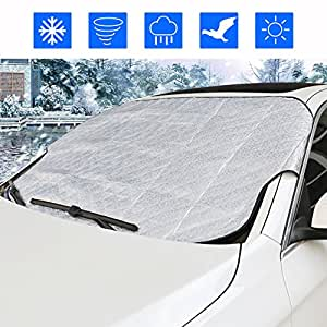 windshield snow cover zoto car front windscreen ice protector non scratch durable frost cover. Black Bedroom Furniture Sets. Home Design Ideas