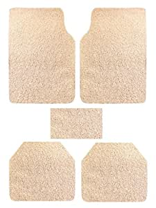 Vheelocityin 74051 Premium Beige Noodle Car Foot Mat for Maruti Swift (Set of 5)