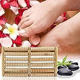 Prom-near Fußmassagegerät aus Holz Massage Fuß Holz Fußmassagegerät Sticks Fuß Muskelentspannung Werkzeug Massage Werkzeug fördert eine bessere Durchblutung Massage Fuß
