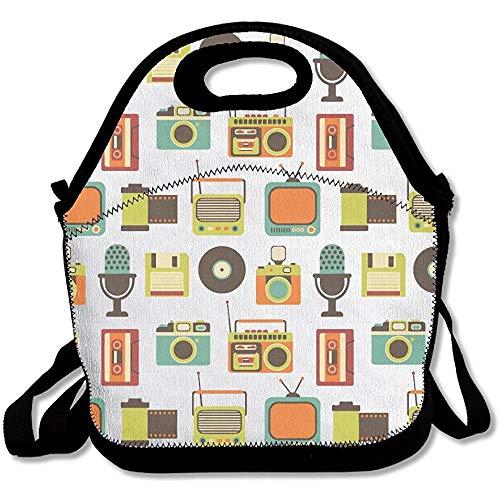 e für Frühstück, für Reisen, Schule, Picknick, Lunchbox für Männer und Frauen und Kinder ()