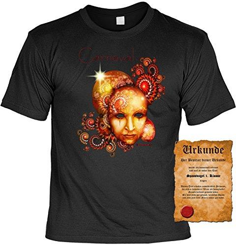 KARNEVAL Fun T-Shirt -- Alaaf! Maske -- Geschenk zum Fasching mit Urkunde (Spaßvogel Masken)