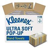 Kleenex 1126 Ultra Soft Essuie Mains Enchevêtrés Pop Up 18 Boîtes de 70 Formats 1 Pli Blanc