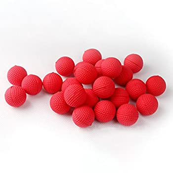 Bullet Ball For Nerf Rival,amamary 20pcs Balls Round Refill Compatible For Rival Apollo Xv-700 Blaster Rival Zeus Mxv-1200 Child Toy (Red) 0