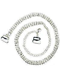 TreasureBay–Tirantes de sujetador transparente Triple filas–Un par–transparente