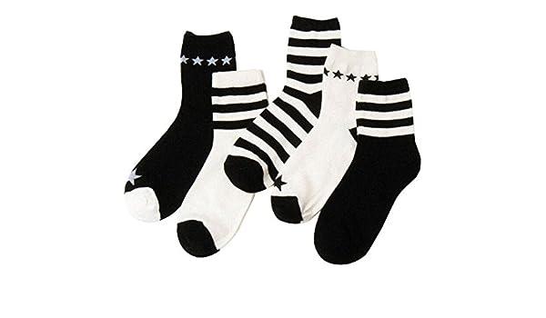 Black Temptation Packung mit 5 Paaren Herren Socken Buntes Streifenmuster