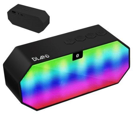 Bluetooth Speaker, DLAND Portatile Colore Cambiare LED Wireless HI - FI Stereo Surround Sound Speaker vivavoce per la casa e all'aperto partito / spiaggia / picnic