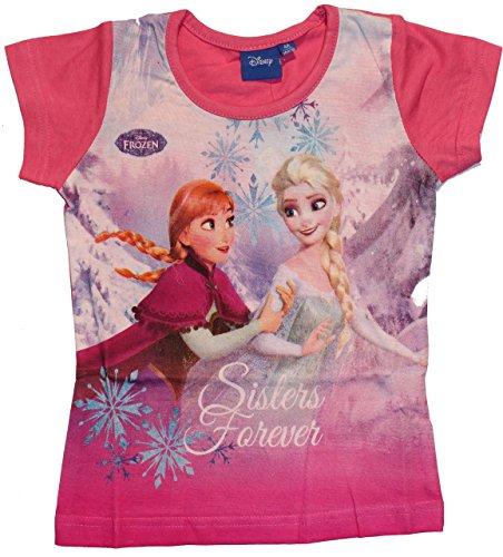 en Die Eiskönigin T-Shirt (128, Rosa) (Frozen T-shirts)