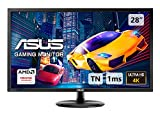 ASUS VP28UQG, 28 Inch 4K (3840x2160) Gaming Monitor, 1 ms, DP, HDMI, FreeSync