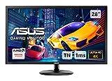Asus VP28UQG Monitor Gaming 28'' 4K (3840x2160), 1 ms, DP, HDMI, FreeSync, Low Blue Light, Flicker Free, Certificato TUV