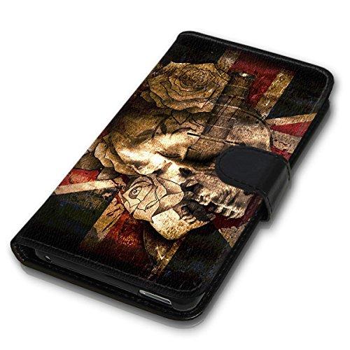 Wallet Book Style Flip Handy Tasche Case Schutz Hülle Schale Motiv Etui für Apple iPhone 4 / 4S - Variante Flip UMV13 Design12 Design 1