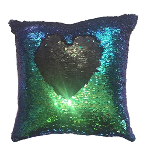 Kavitoz Hot Sale! Sequins Pillow Case, Two-sided Double Color Glitter Pillow Cover Festival Party Coffee Bed Home Decor Cushion Cover By