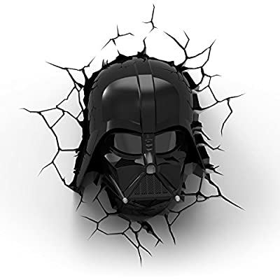Star Wars Darth Vader 3D LED Wall Light produced by JWP Ltd - quick delivery from UK.