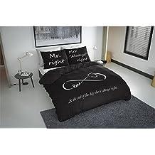 3piezas.Ropa de cama 240x 220cm infinity Anth raziet microfibra