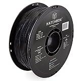 HATCHBOX ABS Filament für 3D Drucker - 1,75 mm schwarz 1 kg Spule - MakerBot RepRap MakerGear Ultimaker uvm.