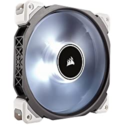 Corsair Co-9050046-ww Ml Series Ml140 Pro Led White 140 Mm Low Noise High Pressure Premium Magnetic Levitation Led Fan - Blackwhite
