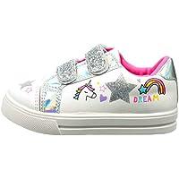 WILLIAM LAMB Girls Premium Unicorn Canvas Trainers Pumps Summer Sjoes Size 6-12