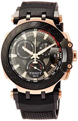 Reloj Tissot T-Race Moto GP edición limitada 2018, cronógrafo en chapado y negro, T1154173706100.