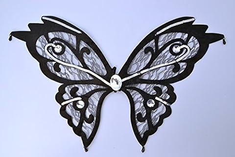 Butterfly Wings. Black Lace
