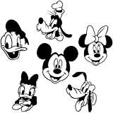 Disney Personnages Stickers muraux Mickey Mouse Minnie Pluto Goofy Donald Daisy