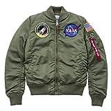 Alpha Industries NASA Damen Bomberjacke VF Wmn (L, Sage-Green)