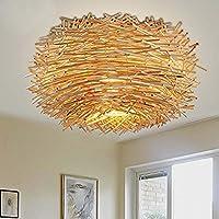 BLYC  Innovative US Amerikanischer Country Schlafzimmer Decke Lampe Rattan  Vogels Nest Esszimmer Dach Lampe