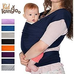 Fular portabebés elástico para transportar a tú bebé – Pañuelo portabebé de algodón y lycra – Porta bebé para hombre y mujer en cinco colores