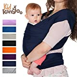 Elastisches Babytragetuch für das Tragen Ihres Babys, aus Baumwolle und Lycra, Tragetuch für Männer und Frauen in acht Farben marineblau