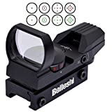 Beileshi 20mm airsoft Tactical ferroviaire multi réticule 4 Rouge et Green Dot Sight Portée queue d'aronde Monts Red Dot Sight...