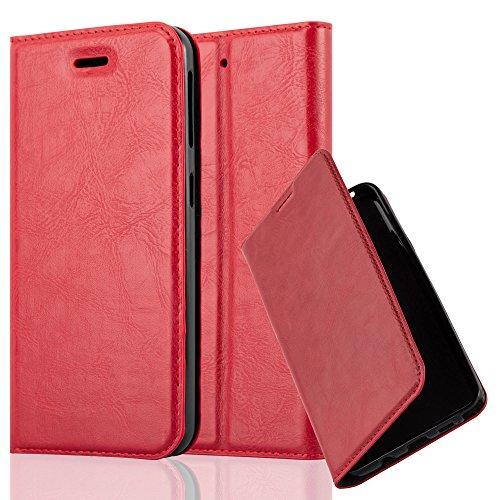 Cadorabo Hülle für HTC Desire 530/630 - Hülle in Apfel ROT – Handyhülle mit Magnetverschluss, Standfunktion und Kartenfach - Case Cover Schutzhülle Etui Tasche Book Klapp Style