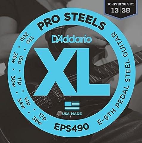 D'Addario EPS490 E-9th Pedal Steel Strings