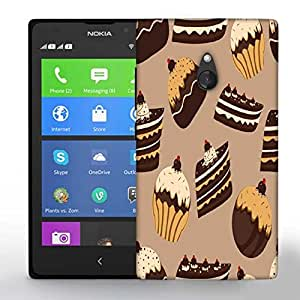 Snoogg Abstract Cakes Pattern Printed Protective Phone Back Case Cover For Nokia Lumia XL