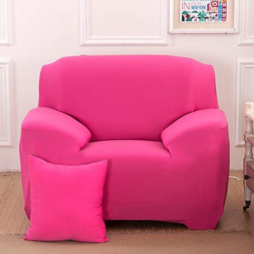 Hotniu copridivano elasticizzato, fodera per divano universale, sofa mobili copertura protettore antiscivolo, ideale per poltrone, divani a 2 3 4 posti (1 posto per 90-140cm,rosa)