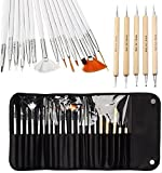 20pcs Nail Art Designing Painting Dotting Detailing Pen Brushes Bundle Tool Kit by ONE1X®