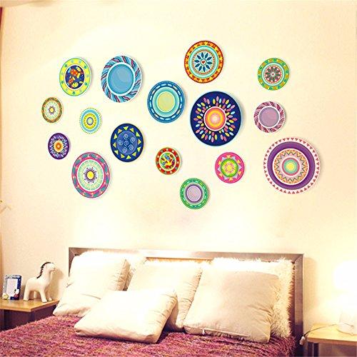 GOUZI Die runden Platten personalisierte Creative Arts Hotel sofa Tapete Wand Dekorationen 50 * 70 cm Abnehmbare Wall Sticker für Schlafzimmer Wohnzimmer Hintergrund Wand Bad Studie Friseur
