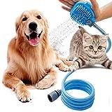 Blau Haustier Dusche Sprayer 3 in 1 Hundedusche Haustier Dusche Kit Handbrause Katze Sprayer Massage Shower Bad/Massagebürste für Den Innen/Außenbereich