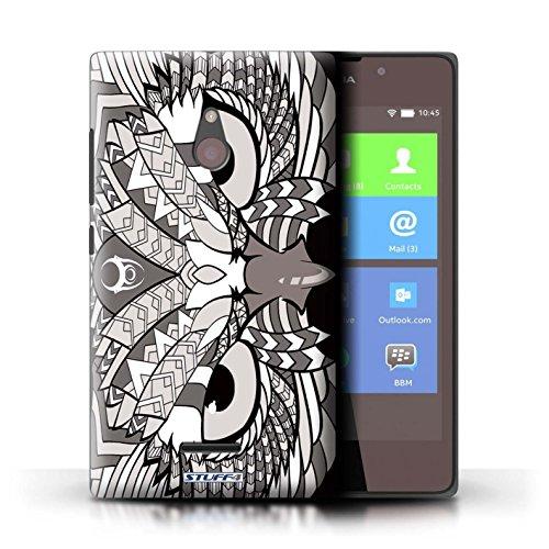 Kobalt® Imprimé Etui / Coque pour Nokia XL / Tigre-Rouge conception / Série Motif Animaux Aztec Hibou-Mono