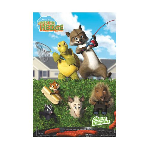 Poster - Over the Hedge - Humans [Size 86 cm x 61 cm] (Ab Durch Die Hecke Film)