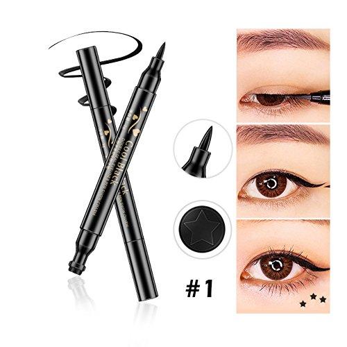 Allbesta Double-ended Eyeliner Stamp Eye Liner Flüssig Pencil Schwarz Langlebig Makeup Super Slim...
