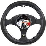 Bottari 16283 Funda Volante para Auto, Diámetro 33-39 cm, Color Negro