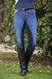 HKM Damen Reithose Denim-Global Team-3/4 Alos Besatz Hose, Dunkelblau, 44