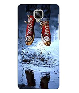 Citydreamz Red Shoes/Boys/Abstract Hard Polycarbonate Designer Back Case Cover For OnePlus 3