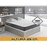 Dormi Premium Velvet 25 FA - Colchón Viscoelástico, 140 x 200 x 25 cm,