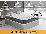 Relaxing - Confort Velvet 25 5.0  -  Colchón viscoelástico y grafeno, 150 x 190 x 25 cm, F/Media, Todas las medidas